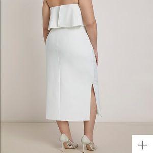 Eloquii Dresses - ELOQUII Strapless overlay ruffle Party Dress 18W